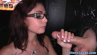 Gloryhole spex amateur fucking before blowjob