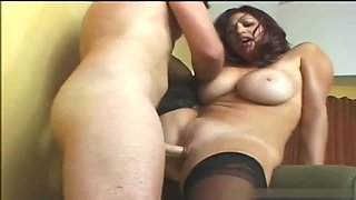 Slutty big tits milf squirt on rough cock