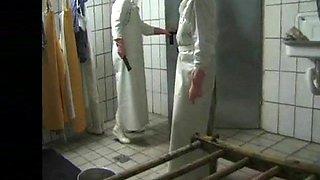Metzgerinnen im Schlachthaus