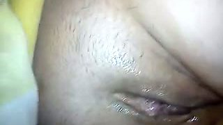 Playing with wet loose pussy of my kinky wifie showing it closeup