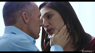 Flirty hottie Abella Danger wanna take firm sloppy cock into her shaved pussy