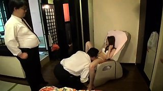 Petite Japanese teen gets blindfolded, gagged and fucked raw