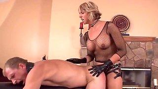 Blonde Mistress Strap on Fuck Her slave Hard