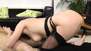 Mature british cougar gets a mouthful of cum