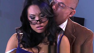 Brazzers - Dirty asain Asa Akira gets fucked by her professor