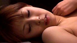 Horny Sakurako wild toy insertion session