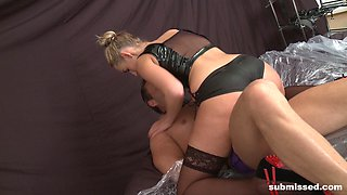 Janice loving pegging anal hardcore in femdom porn