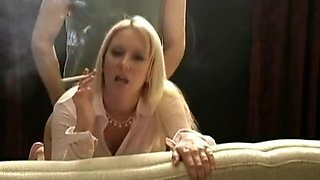 Incredible smoking movie with blonde, couple scenes