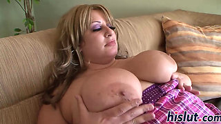 Fat brunette slag rides on a BBC