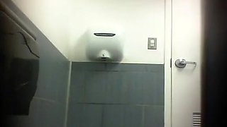 Fantastic big booty on a toilet pissing girl