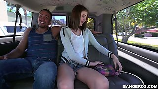 Slender hussy Blaire Ivory gets drilled well in car