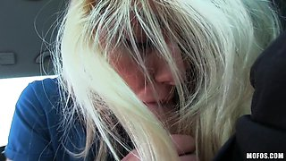 Blue Eyes Blonde Sucks And Rides Me In The Car