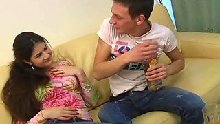 Amazing reverse cowgirl ride with Amateur and her boyfriend