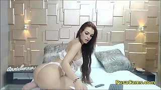 Big Ass Hot Brunette Will Seduce You With Posing And Dancing