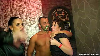 Night club sex party full of cock suckers goes wrong