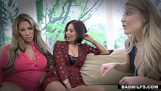 three horny milfs drink from the fountain of youth
