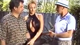 Busty Blonde Housewife Fucking Outside