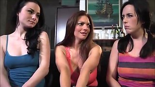 Mom and sisters show you how to jerk off