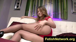FetishNetwork Alaina Fox high heel nylon