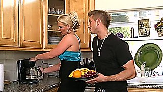 Kitchen Action For Hot Sizzling Cougar Phoenix Marie