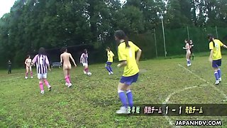 soccer girl gets her hairy japanese pussy toy fucked by judges