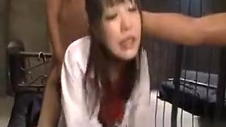 Cute school girl Rin oka hardcore
