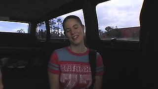 Curious damsel acquiesces for a hardcore tour in a bang bus