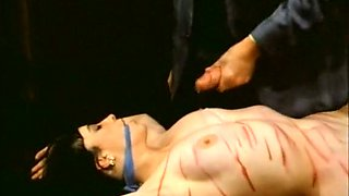 Classic wicked BDSM session with pale skin brunette