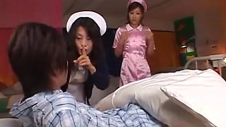 Amazing Japanese girl Kaera Uehara in Crazy Threesomes, Nurse JAV clip