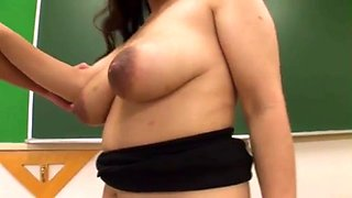 Jap teacher big tits milk