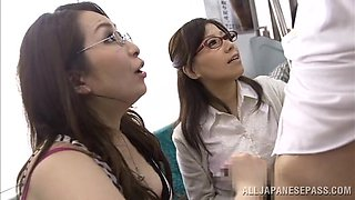Slutty Japanese Babes Sucking Cocks In The Public Bus