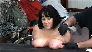 Mellow breasty black lady acting in a sperm shot porn movie