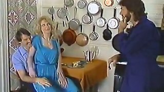 Two dudes with mustaches  drill vintage porn actress Lili Marlene