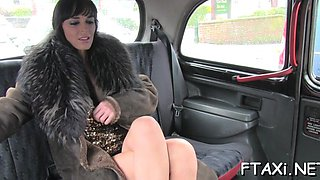 that bitch loves fucking in fake taxi