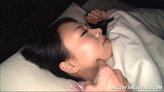 Nachi Kurosawa gets cum on her boobs in hardcore titjob clip
