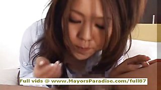 Shiori Tsukimi innocent japanese girl blowjobs and fucking