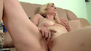 Unshaved Older With Saggy Milk Shakes Dildoing by TROC