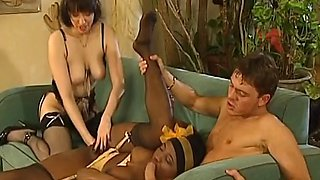 Juicy african babe got her fine cunt fisted in a steamy threesome