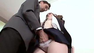 Hot Brunette School Girl Gets Fucked From Behind