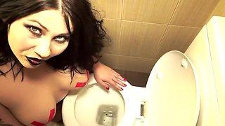 Amazing Amateur clip with Brunette, Masturbation scenes