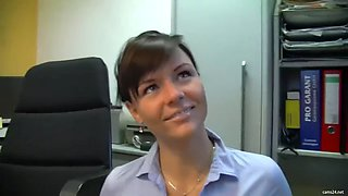 hot german secretary doing it at work