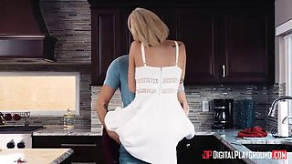 Teeny blonde babysitter likes to get pounded like a whore