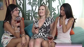 Bisexual Milfs Take Younger Long Shaft On Couch