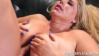 Lusty Karen Fisher choking on a fat dick and having much fun