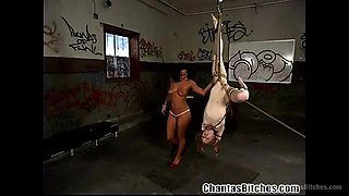 romanian mistress makes her slave eat cunt