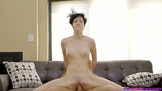 Cadey Mercury gets intimate with her step brother after a hot workout at home