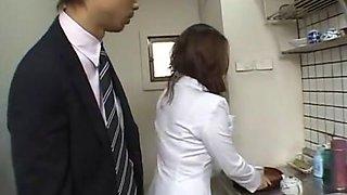 Fabulous Japanese girl Reiko Yamaguchi in Incredible Secretary JAV movie