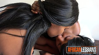 Amateur African Lesbians Toying With Dildo