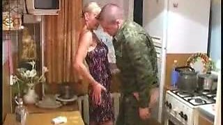 Drunken solder fucks blonde wife