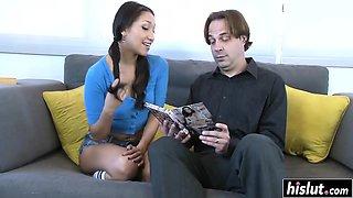 Hot brunette got penetrated after seducing